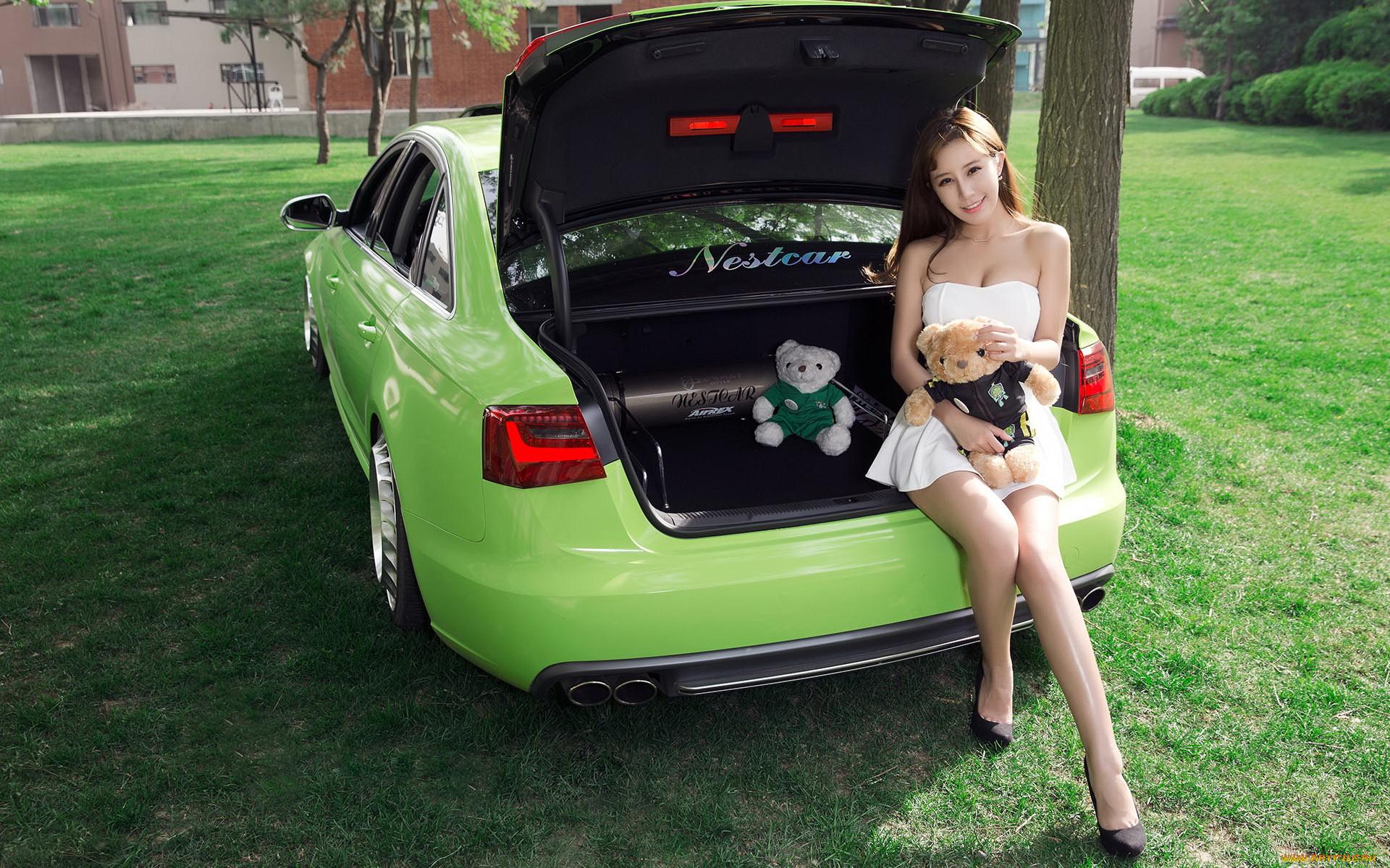 Картинки девушка в багажнике